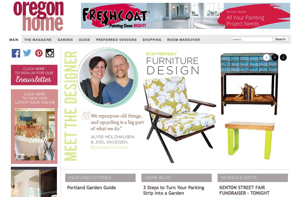 Oregon Home magazine Branches Furniture press media