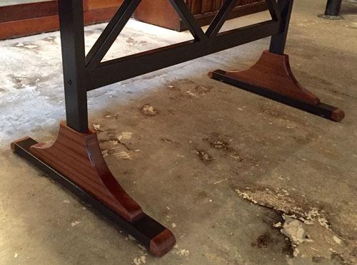 spell mahogany dining table
