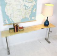 Maple slab console table