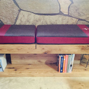 read:grain reading bench bookcase