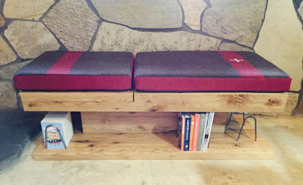 read:grain reading bench bookcase