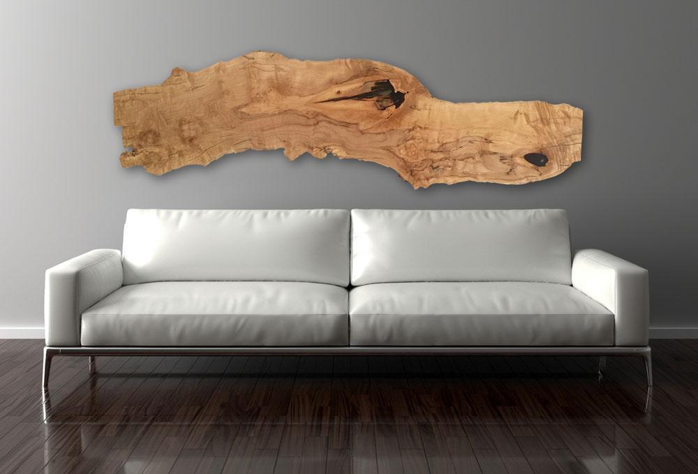 maple wall art above sofa - Handbuilt Spaces
